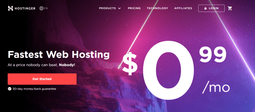 hostinger web hosting company in uk