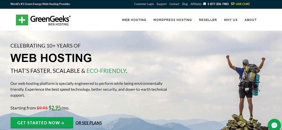 GreenGeeks cheap Web hosting per year