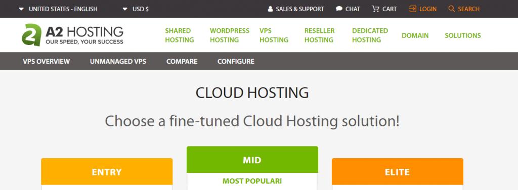 a2 hosting cloud hosting server