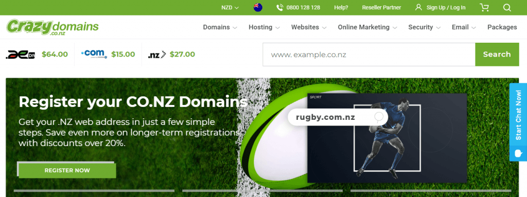 crazydomain NewZealand web hosting provider