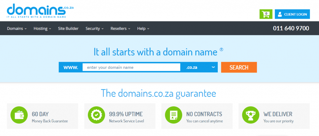 domain.co.za south africa web hosting company