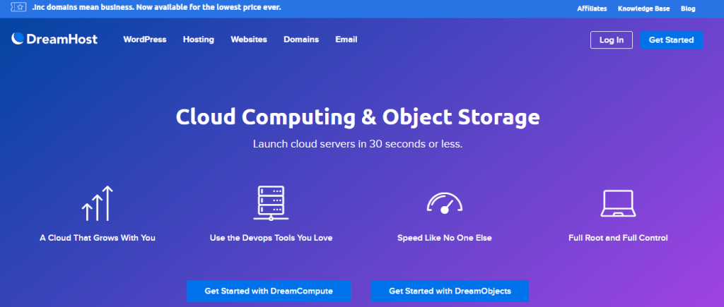 dreamhost top cloud providers
