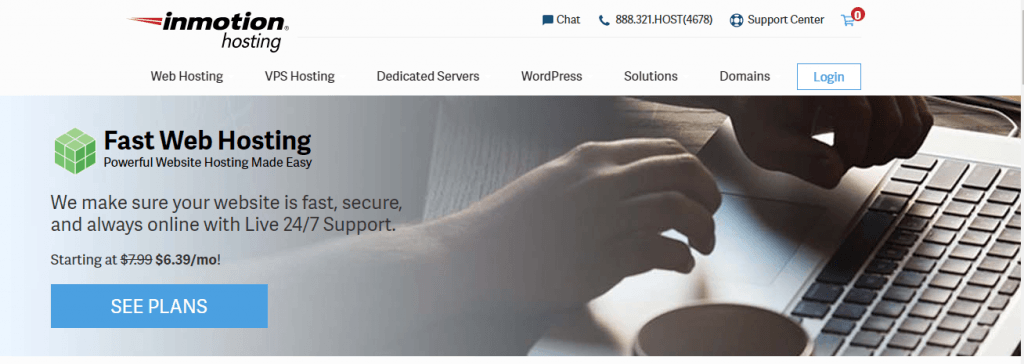 inmotion best web hosting service in india