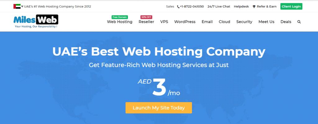 milesweb Web hosting in dubai