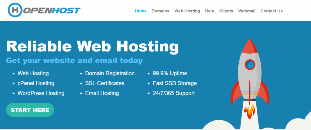 open host reliable web hosting south Africa