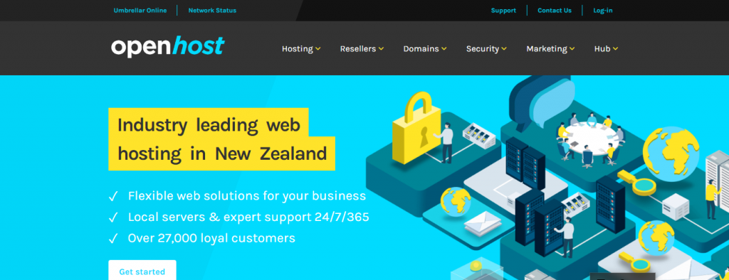 4. Openhost Openhost has become one of the leading web hosting platforms with an impressive customer base of 27000 people. Clients rely on Openhost due to their efficient and flexible web solutions for business with expert support and local servers. Amongst its premium offerings, this platform enables rapid and secured web hosting in New Zealand.    Customers can create privately branded and customized web hosting services through reseller hosting. The Virtual Servers offered by Openhost is an ideal platform for the website developers, SaaS and office servers, and hosting providers.    Moreover, users can get their desired domain name, domain transfer, domain renewal, free domain parking, and URL redirection. It offers web security, backup, SSL certificates provide top-notch customizable local VPS, and hosting solutions.