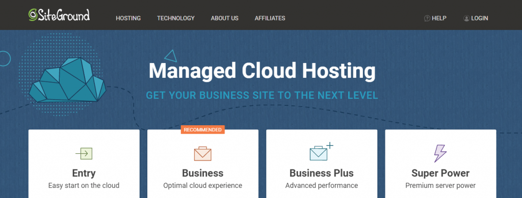 siteground cloud web hosting company