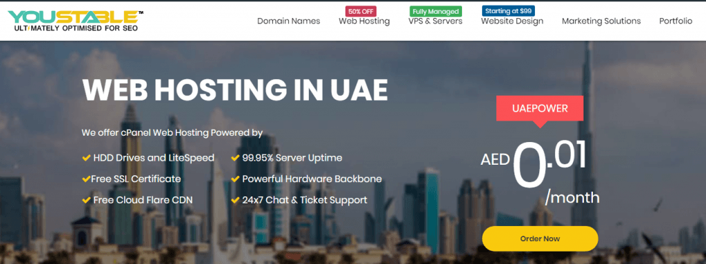 youstable Top web hosting companies in dubai
