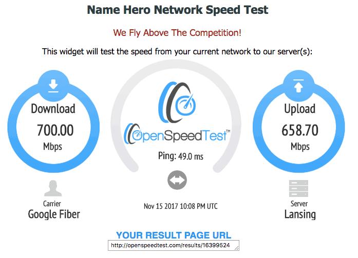 nameHero speed test tools