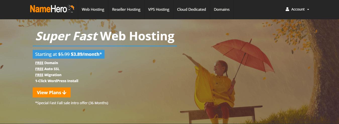namehero web hosting