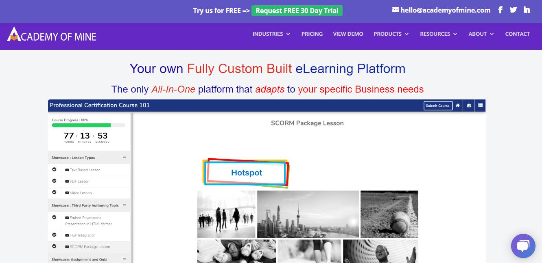 academy of mine online course builder