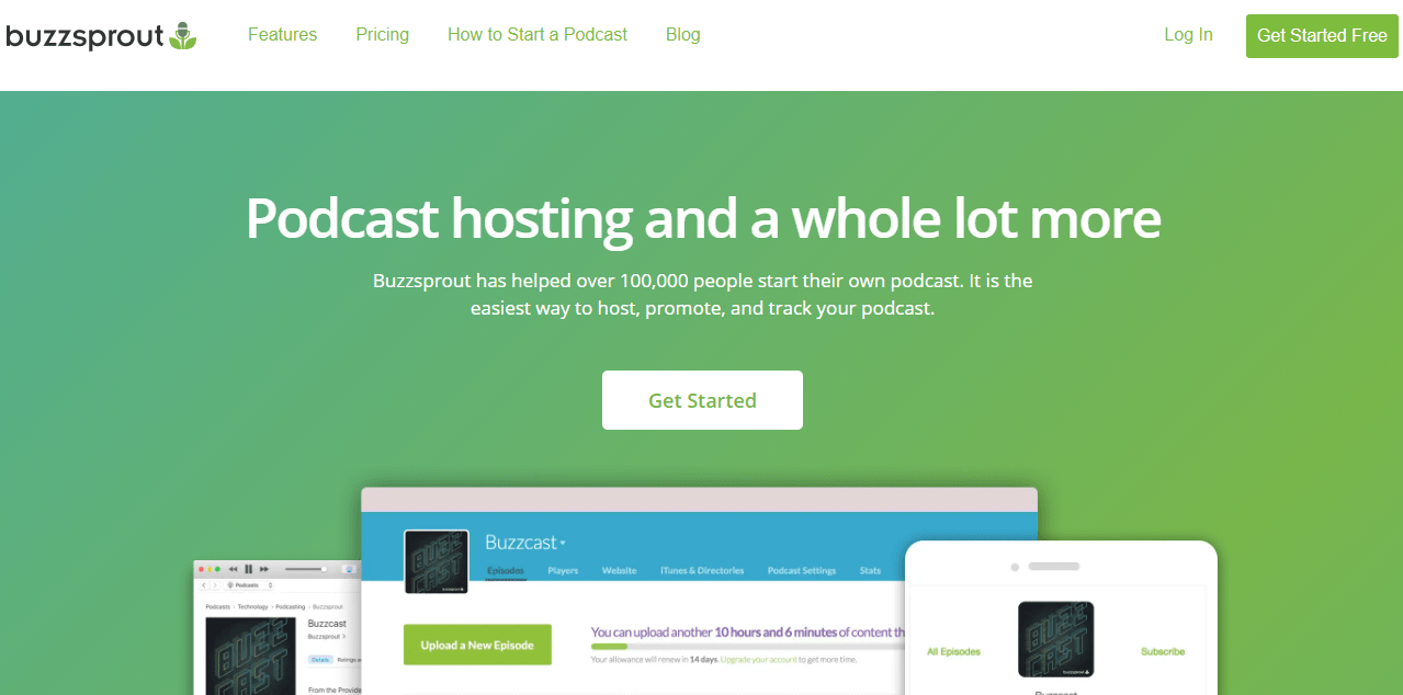 buzzsprout podcasting site