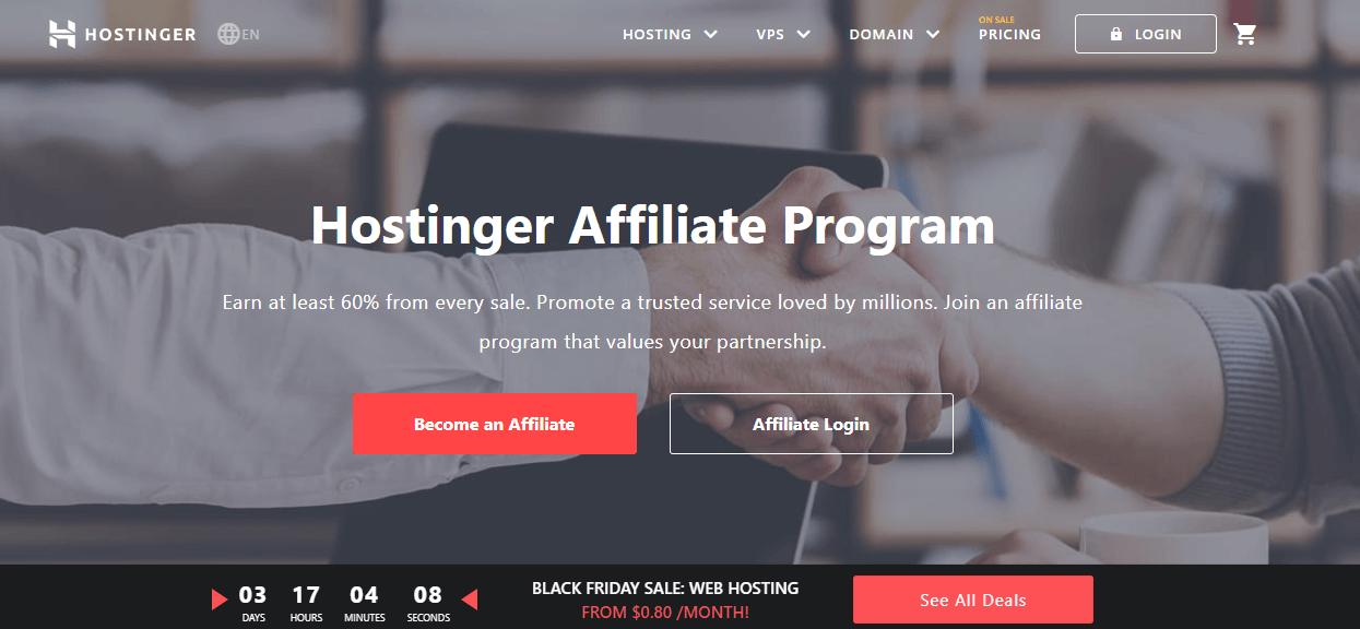hostinger highest paying affiliate programs