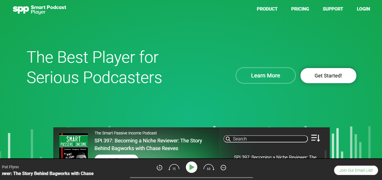 smart podcast player hosting