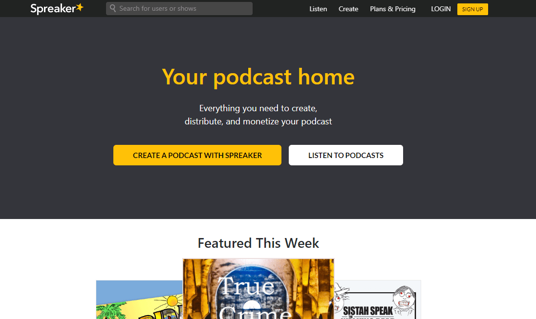 spreaker podcast hosting platform