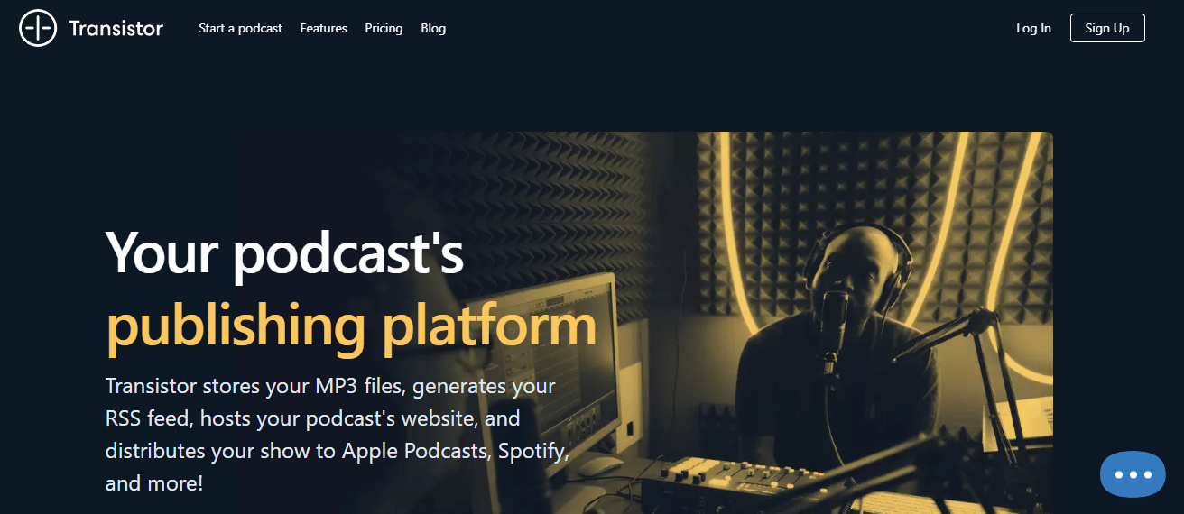 transistor.fm podcasting site