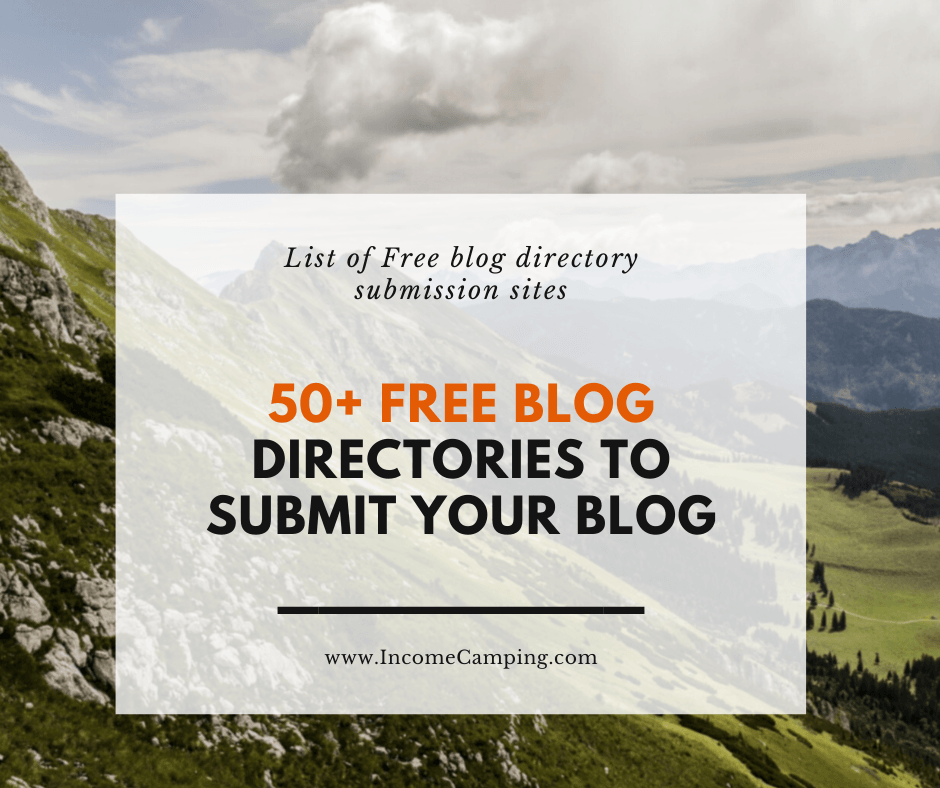 List of Free Blog Directory Submission sites